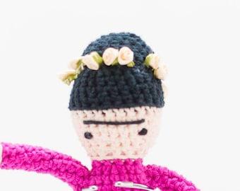 Frida Kahlo Stuffed Doll - Crochet Frida Kahlo Toy - Amigurumi Frida Kahlo - Women We Love Series