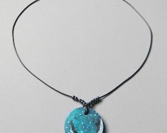 Nebula / Space Jewelry / Galaxy Art / Necklace / 3