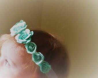 Mint Flower Crown, Floral Crown, Mint Headband, Toddler Flower Crown, Flower Headband, Mint Toddler Crown