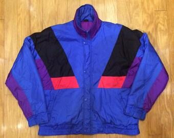 Retro Neon Steep Slopes Ski Jacket Size Medium
