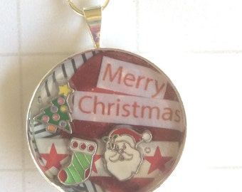 christmas planner chain, xmas keyring, christmas planner accessory,  handmade keyring, festive gift idea, personalised keyring, christmas
