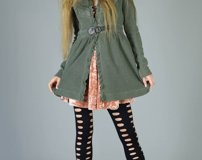 Featured listing image: Sgt. Pepper Thermal Boho Jacket, Olive Green