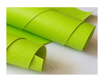 50x35cm Lime-green  leatherette for Book Binding