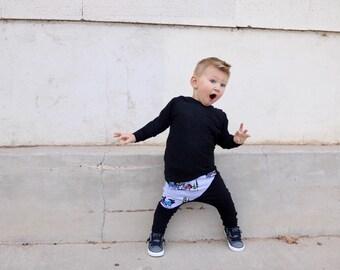 harem pants, baby leggings, toddler leggings, little boys leggings, Hipster toddler, Hipster baby boy clothes, baby boy clothes, moose pants