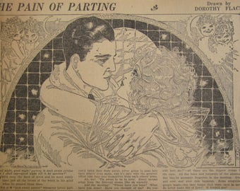 Original 1928 Newspaper Clipping Of The Pain Of Parting By Dorothy Flack