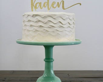 Personalized Name Cake Topper
