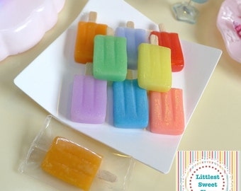 Miniature Popsicle Ice Lollies Dolls Food 1:6 Scale various flavours/colours,  Handmade by Nadia Michaux