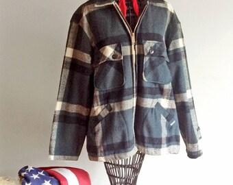 Vintage Big Mike Wool Hunting Jacket - Shirt Jacket Outerwear Union Made - Men's Medium Large