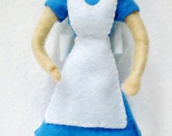 Alice in Wonderland Figurine, Handmade Doll, Softsculpture Doll Needle felted