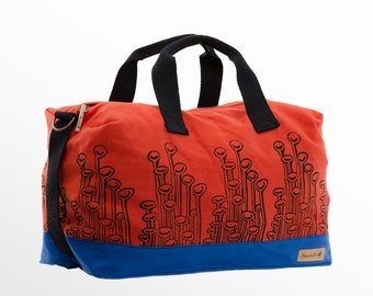 Weekender Bag, Canvas Weekender, Duffle Bag, Sports Bag, Gym Bag, Vegan Bag, Travel Bag, Luggage, Cabin Bag, Beach Bag, Gift Him, For Her