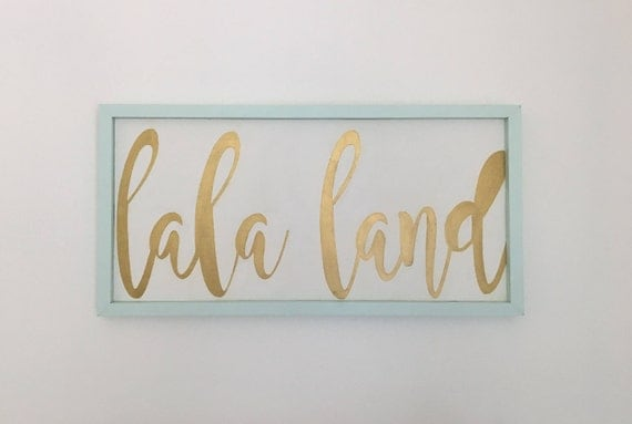 Lala Land Handmade Wood Sign