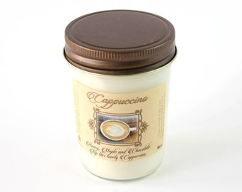 Cappuccino Scent - Natural Soy Candle