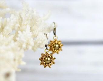 Small earrings women gift-for-wife girlfriend gift-for-daughter dangle earrings romantic earrings star earrings minimalist jewelry boho