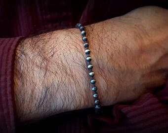 Men's Ball Chain Bracelet, 4mm Sterling Bracelet, Ball Chain Bracelet, Lightweight Chain Bracelet, Ox SS Bracelet, Available for Christmas
