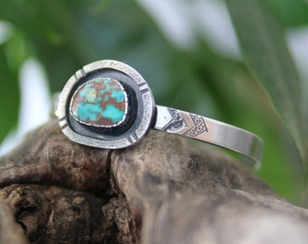 Turquoise Cuff, Sterling Silver Turquoise cuff, Turquoise Bracelet, Silver Cuff, Blue turquoise, Natural turquoise, Turquoise Jewelry