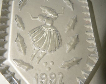 Waterford Crystal 1992 Twelve Days of Christmas Nine Ladies Dancing Etched Crystal Hanging Ornament for Christmas Tree