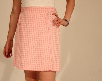 Vintage Skort Pink Skort Summer Skort Floral Shorts Floral Skirt Pink Shorts Small 60s Skort Daisy Shorts Daisy Skort Daisy Mini Skirt