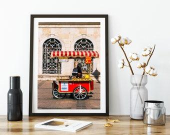 Photographie Fine Art - Vendeur de Maïs - Toile photo - Istanbul - Turquie