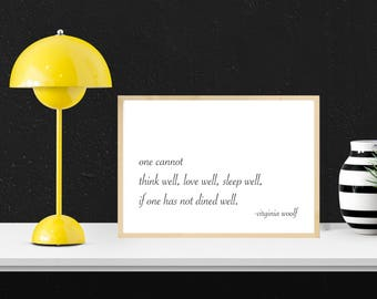 Dined Well Print, Modern Farmhouse Decor, Inspirational Gifts, Printable Wall Art, Insprational Quote Prints, Typography Print, Minimalist