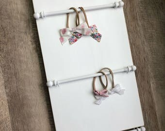 Hair Bow Holder, Hair Bows, Baby Shower Gift, Girl Nursery Decor, Bow Board, Headband Holder, Hair Bow Organizer