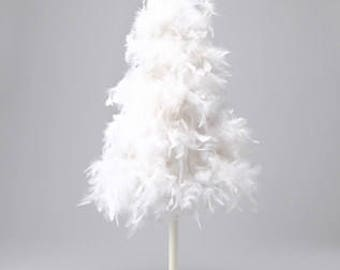 """32"""" Inch White """"American""""  Feather Tree"""