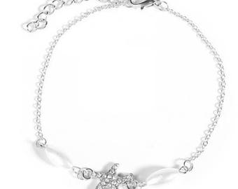 Silver or Gold Starfish Anklet