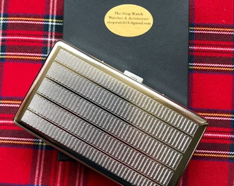 A Very Beautifully Engraved Long Silver Cigarette Case