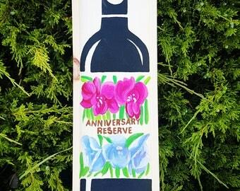 Anniversary Wine Box, Wedding Wine Box, Wedding Gift, Anniversary Gift, Wedding Ceremony Wine Box, First Fight Wine Box, Anniversary Wine