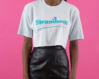 90s Vintage, Crop Top, 90s Clothes, Pastel Blue, Neon, 90s Crop Top, 90s Shirt, Graphic Tee, Blue, 90s, Pastel, Pink, Spring, Summer, Crop