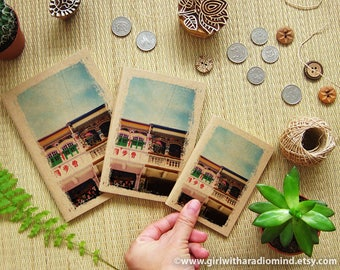 Singapore Shophouse Notebook 41 - Small Gift for Travelers - Mini Pocket Travelling Notebook - Inspire and Write