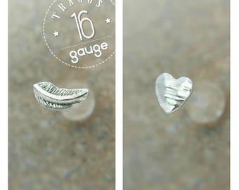Tragus Set - Tragus Piercing - Cartilage Earring - Tragus Stud Tragus Earring Helix Piercing - Labret Stud - Nose Stud - Nose Ring