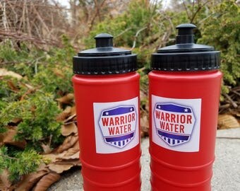 Ninja Warrior Party Favor, Sports Bottle w/ Sticker, Ninja Warrior Birthday, Ninja Birthday Party, Ninja Warrior Sports Bottle