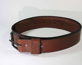 RUDE Leather Belt Brown