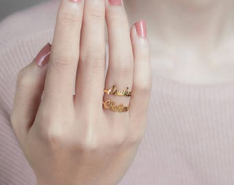 Dainty Name Ring - Custom Name Ring - Gold Jewelry - Personalized Ring - Gift For Her
