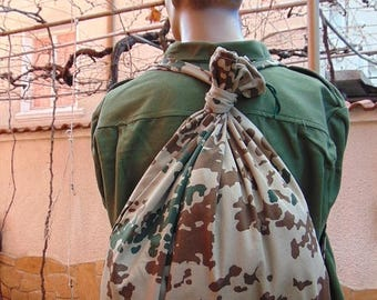 20% SALE Military Camouflage Canvas Backpack, Army Backpack ,Soldiers Backpack , Vintage Rucksack Backpack ,Military Backpack ,School Bag ,