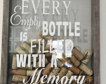 Wine cork holder , wine cork shadow box ,cork frame,cork box, wine