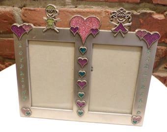 Vintage Sixtrees Photo Frame, Boyfriend Girlfriend photo frame, couples frame, Morethebuckles, Desk Frame
