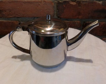 Vintage Vollrath Company Stainless Steel Pitcher Creamer, Vintage stainless-steel creamer, 1980's creamer, 1980's Prop, Morethebuckles