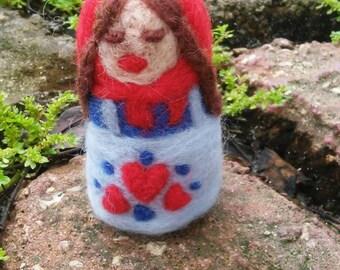 Little Folk Art Felted Matryoshka Nesting Doll