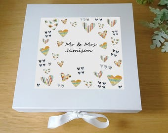 Wedding Keepsake Box -Wedding Gift- Personalised Wedding gift- Wedding Keepsake Box -Wedding Present