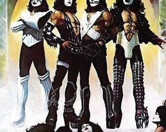 KISS Band Love Gun  Rare Poster