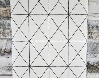 A Street Prints-Intersection Black Geometric Wallpaper SCH78003