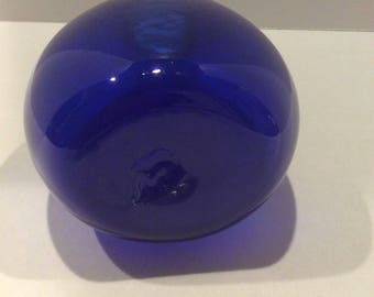 Blenko Modern MidCentury Blown Glass Cobalt