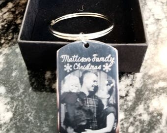 Custom - Keychain - Family Christmas - Engraved photo - Personalized - Gift for Meme -Gift for Papa - Gift for - Daddy
