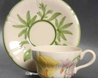 """Franciscan """" Wildflower"""" Cup & Saucer"""