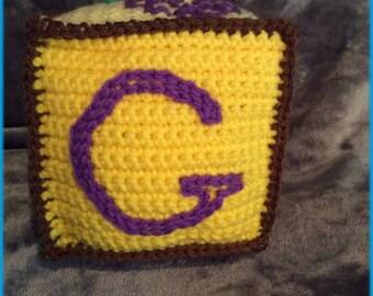 Letter G Soft Block, Hand Crocheted