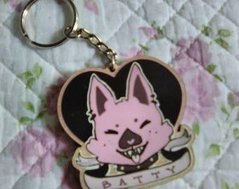"""2"""" Batty Maplewood keychain"""