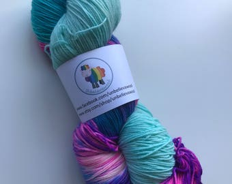 hand dyed sock yarn 150g