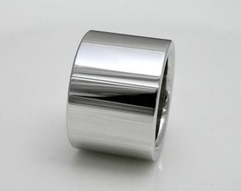 Band ring (width 14 mm, 2.8 mm thickness), silver ring
