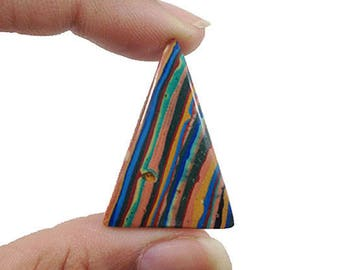 Rainbow Calsilica Cabochon 19Ct  (36x24x4 mm) Crazy Shape Natural Gemstone  NS14177